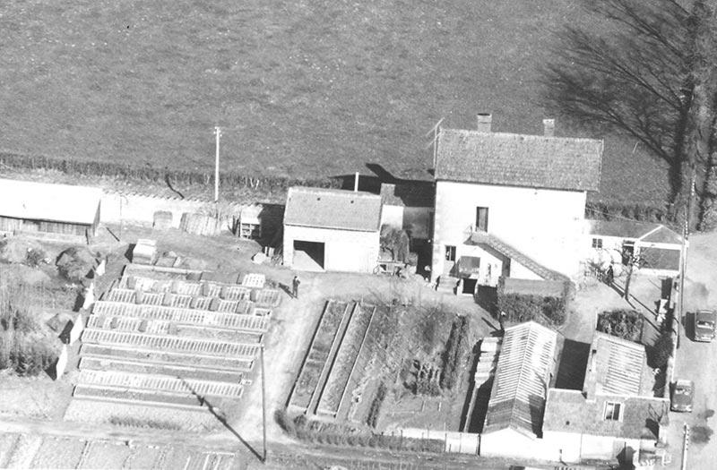 Vue aérienne de l'entreprise Moncorgé au début du 20° siècle